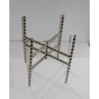 Faux Bamboo Nickel Plated Folding Tray Table 1980s Preview