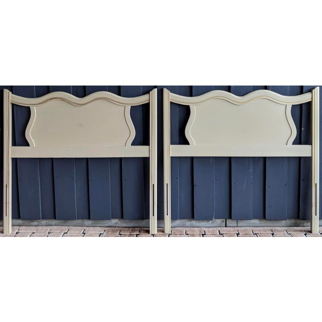 Wood French Provincial Headboards, a Pair For Sale - Image 7 of 7