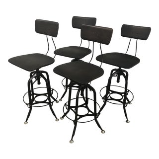"Restoration Hardware ""1940's Vintage Toledo Bar Stools"" - Set of 4"