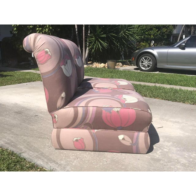 Jack Lenor Larsen Pair of Jack Lenor Larsen Style Chairs For Sale - Image 4 of 10