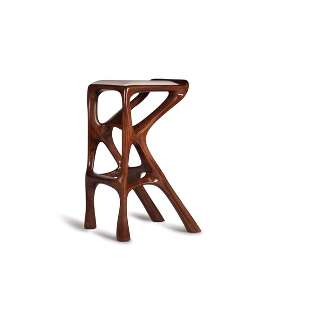 Amorph Chimera Bar Stool, Stained Walnut For Sale In Los Angeles - Image 6 of 13