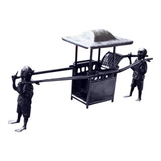 Chinese Sedan Silver Miniature Chair For Sale