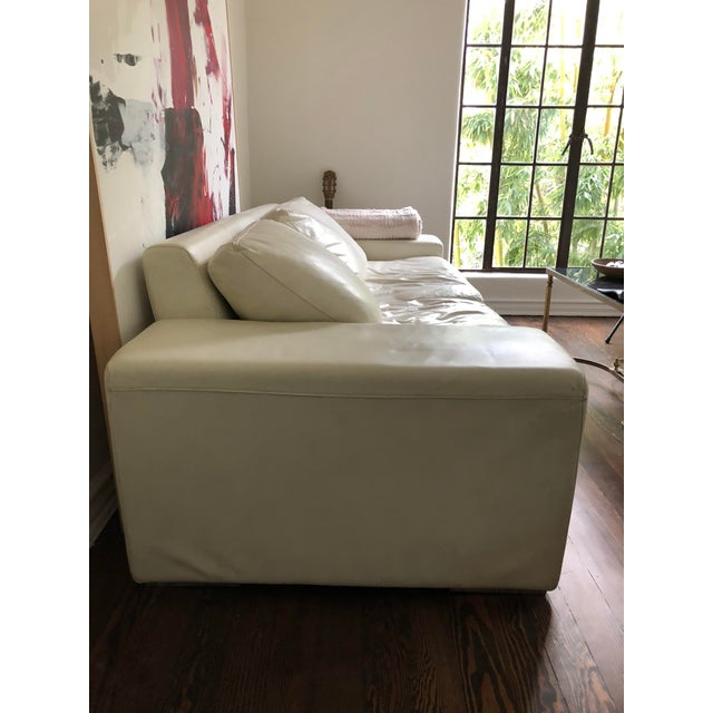 Gorgeous vintage Roche Bobois white leather sofa. Purchased from Galerie Sommerlath. Great condition. Fantastic design and...