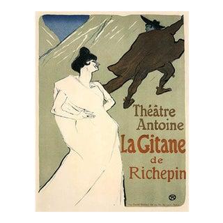 1966 Mourlot Toulouse Lautrec La Gitane Lithograph 31 For Sale