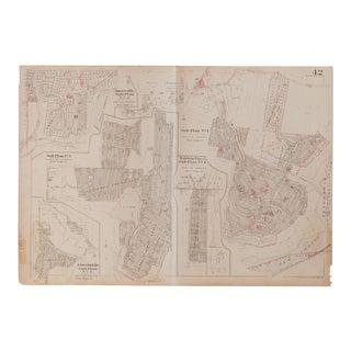 Vintage Hopkins Map of Somers Sub Plans Amawalk Lake Purdys For Sale