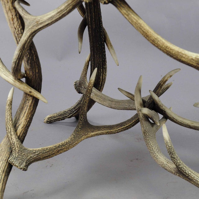 1900 Octagonal Antler Table For Sale - Image 6 of 7