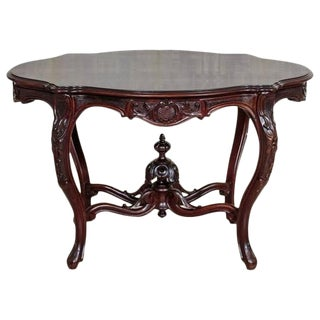 19th Century Louis Phillipe Walnut Table For Sale