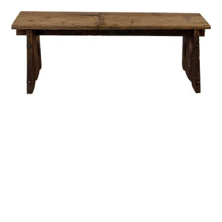 Antique Indian Wooden Bench For Sale
