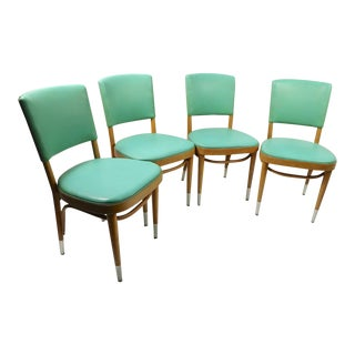Mid Century Cafe Restaurant Dining Chairs - Set of 4 For Sale