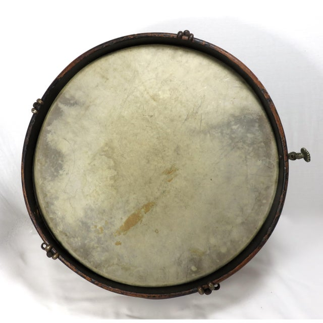 Early 20th Century Antique Parade Marching Snare Drum For Sale In Boston - Image 6 of 13