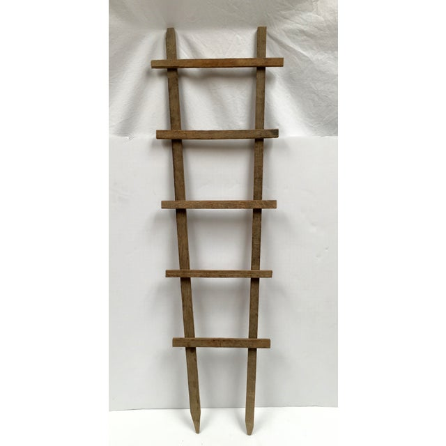 Wood Vintage Tobacco Drying Stick Ladder For Sale - Image 7 of 7