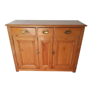 1900s Country Pine Dresser Base For Sale