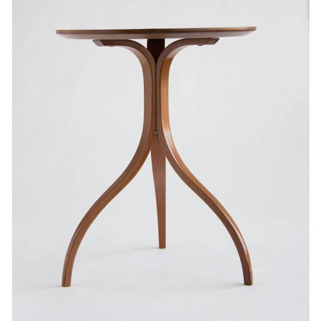 Spider Leg Walnut Side Table - Image 3 of 8