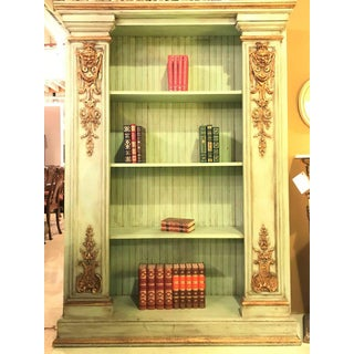 Pair of Palatial 19th Century Swedish Parcel-Gilt and Painted Bookcases Preview