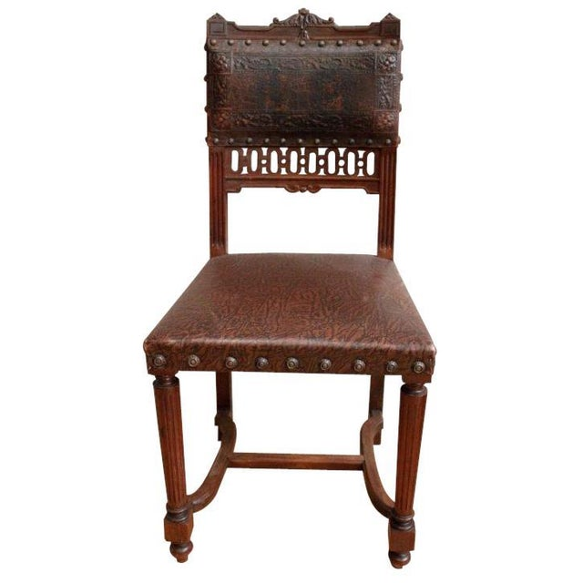 French Antique Dining Chairs - Set of 5 - Image 3 of 5