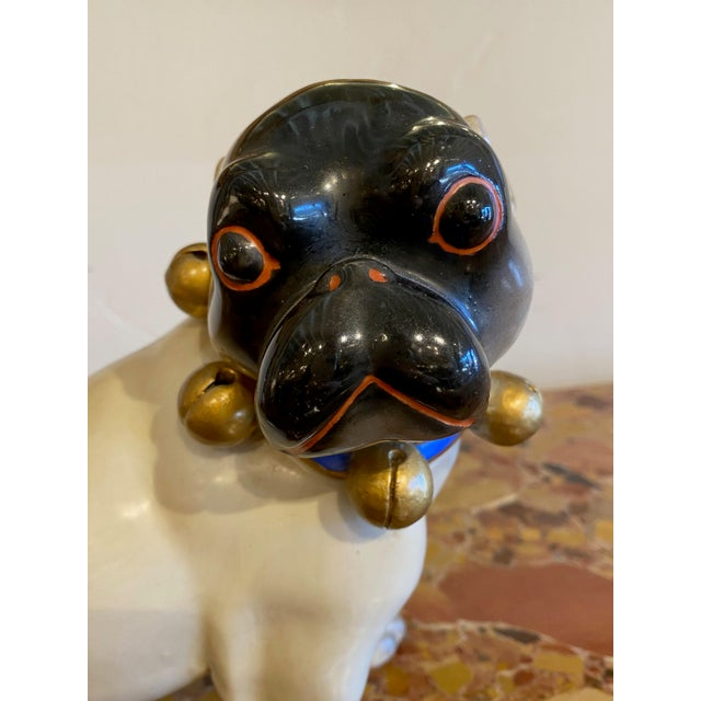 Figurative Standing German Pug With Bell Collar For Sale In Dallas - Image 6 of 9