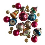 Image of Vintage Christmas Ornament Collection - 26 Pieces For Sale