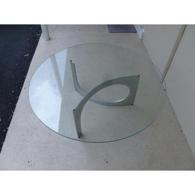 Mid Century Modern Aluminum Sculptural Table by Knut Hesterberg by Bacher Tische For Sale In Miami - Image 6 of 11