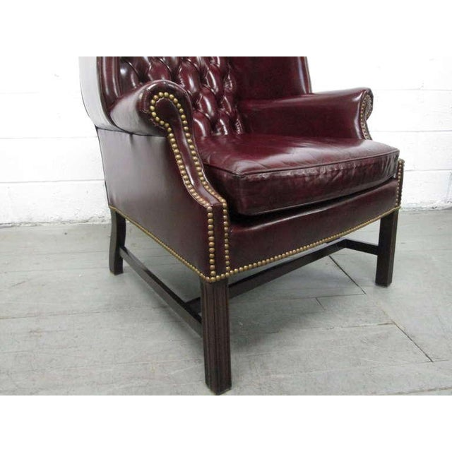 pair of vintage leather tufted wingback chairs for sale in new york image 6 of - Tufted Wingback Chair