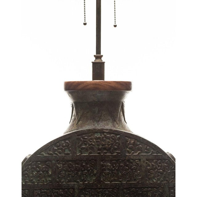 Lawrence & Scott Lawrence & Scott Daria Table Lamp in Archaic Bronze For Sale - Image 4 of 8