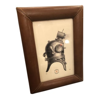 Pigeon & Poodle Eton Tobacco Leather Picture Frame For Sale