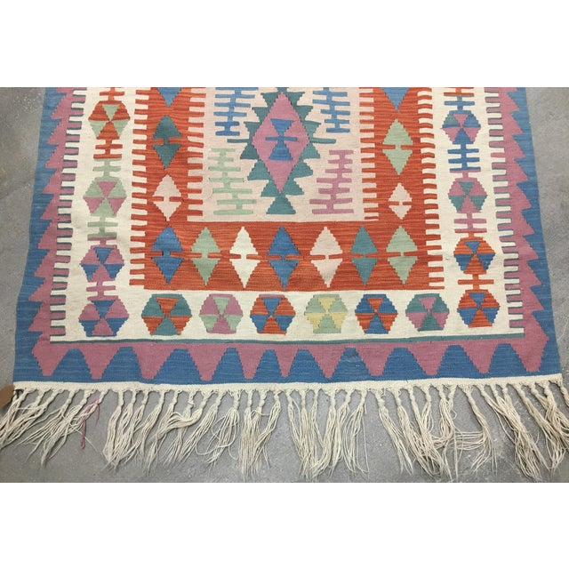 Contemporary Turkish Kilim Rug - 4′ × 6′2″ For Sale In Los Angeles - Image 6 of 11