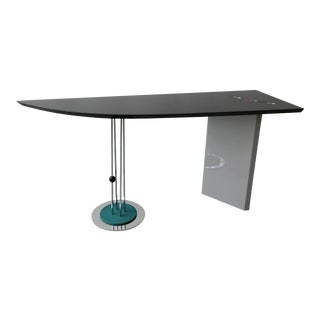 Postmodern Chrome and Lacquer Console Table by Saporiti For Sale