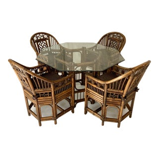 Brighton Style Rattan Dining Set For Sale
