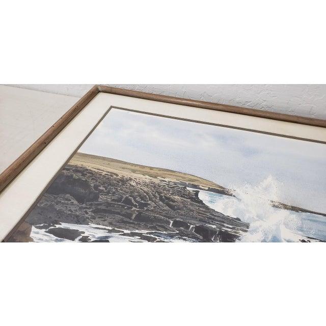 Paint Merv Corning (1926-2006) Rocky Coastal Landscape Watercolor For Sale - Image 7 of 9