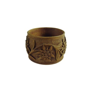 Black Forest Hand Carved Napkin Ring For Sale
