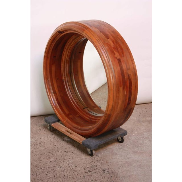 Large Wooden Porthole Mirror by Ralph Lauren - Image 3 of 4