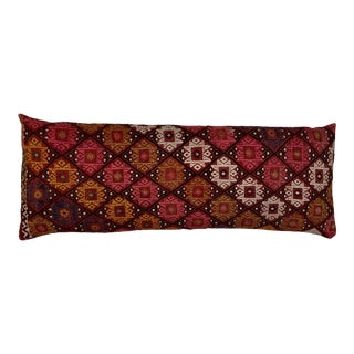 Single Two Side Hand-Embroidered Pillow For Sale