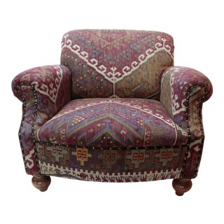 21st Century Kilim Upholstery Armchair For Sale