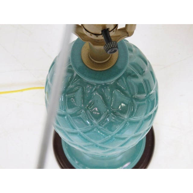 Turquoise Pineapple Lamps - A Pair - Image 2 of 2