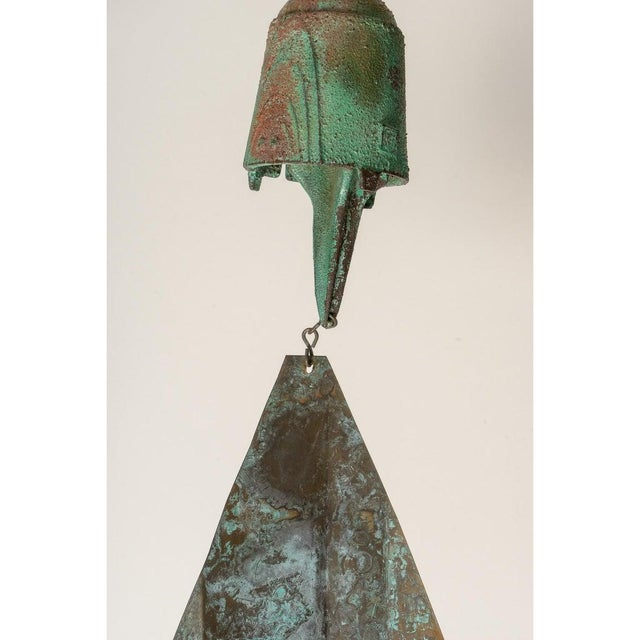 Brutalist Mid-Century Modern Bronze Wind Chime by Paolo Soleri (3 Available) For Sale - Image 3 of 13