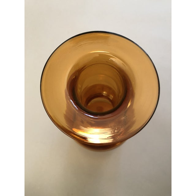 Mid-Century Modern Amber Holmegaard Glass Gulvase For Sale - Image 3 of 4