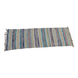"Swedish Vintage Handwoven Rag Rug -- 2"" x 6"""
