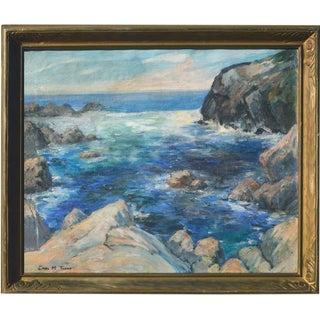Carl M. Thorp Framed Carmel Seascape Painting