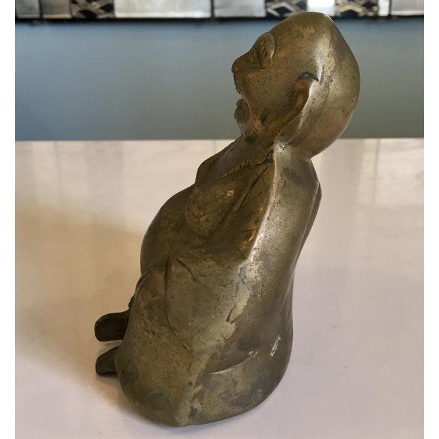 Brass Buddha Figurine For Sale - Image 4 of 7