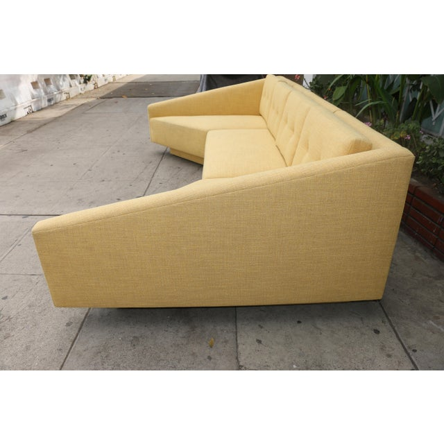 Yellow Sectional Sofa For Sale - Image 4 of 11