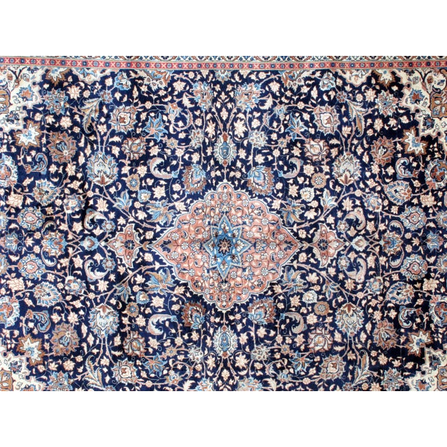 "Leon Banilivi Navy Persian Kashan Carpet - 9'8"" X 12'6"" - Image 5 of 6"