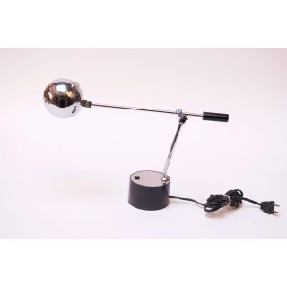 1970s Diminutive Chrome Ball Articulating Table Lamp Preview