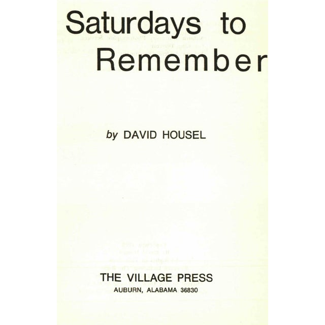 'Saturdays to Remember' Book by David Housel - Image 2 of 5