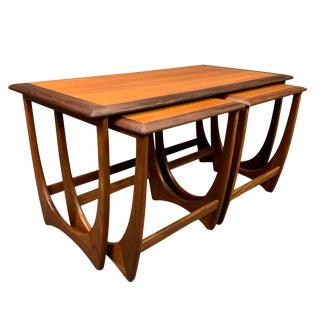 "1960s Mid Century Modern G Plan Teak ""Astro"" Nesting Tables - Set of 3 For Sale"