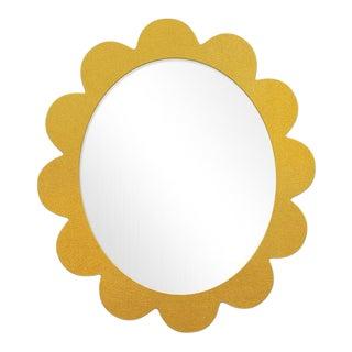 Fleur Home x Chairish Iris Oval Mirror in Gold Leaf, 31x26 For Sale