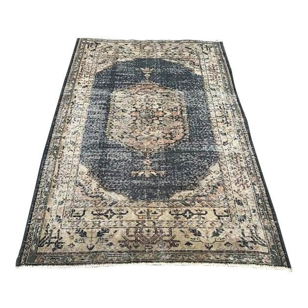 Decorative Tribal Turkish Rug - 4′10″ × 7′4″ For Sale