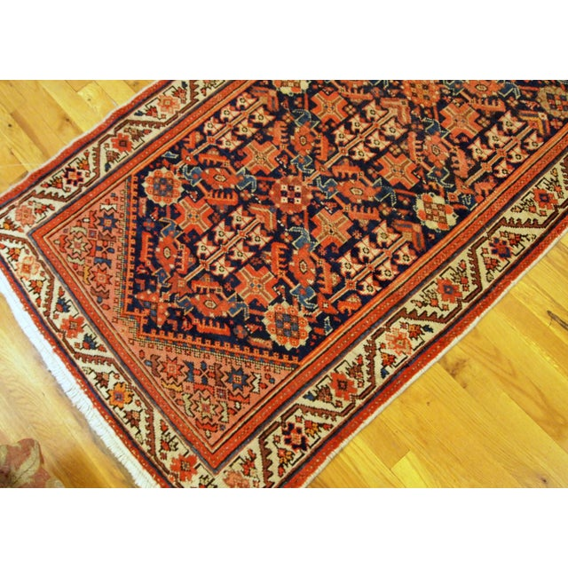 1900s Handmade Antique Persian Malayer Runner 3.1' X 12.3' For Sale In New York - Image 6 of 9