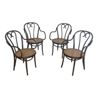 1950s Vintage Radomsko Thonet Dining Chairs- Set of 4 For Sale