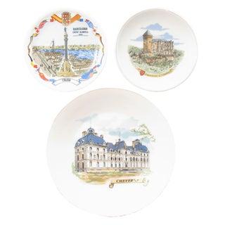 Vintage European Souvenir Plates, Set of 3 For Sale