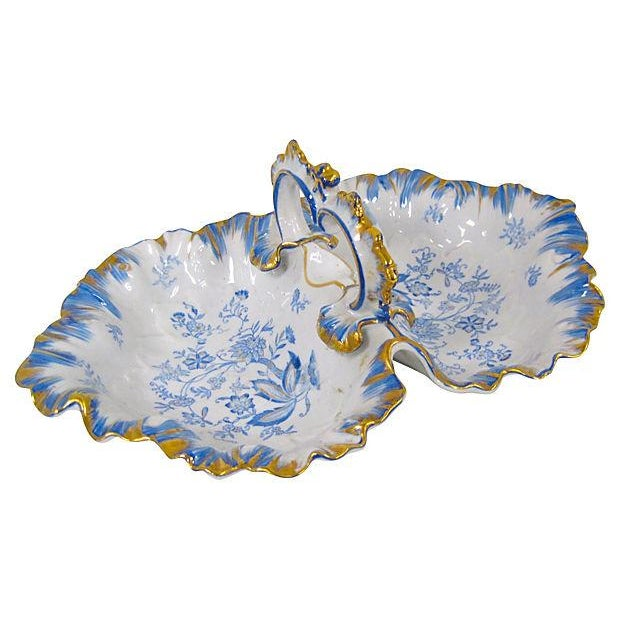 Blue & White Porcelain Divided Dish - Image 3 of 4